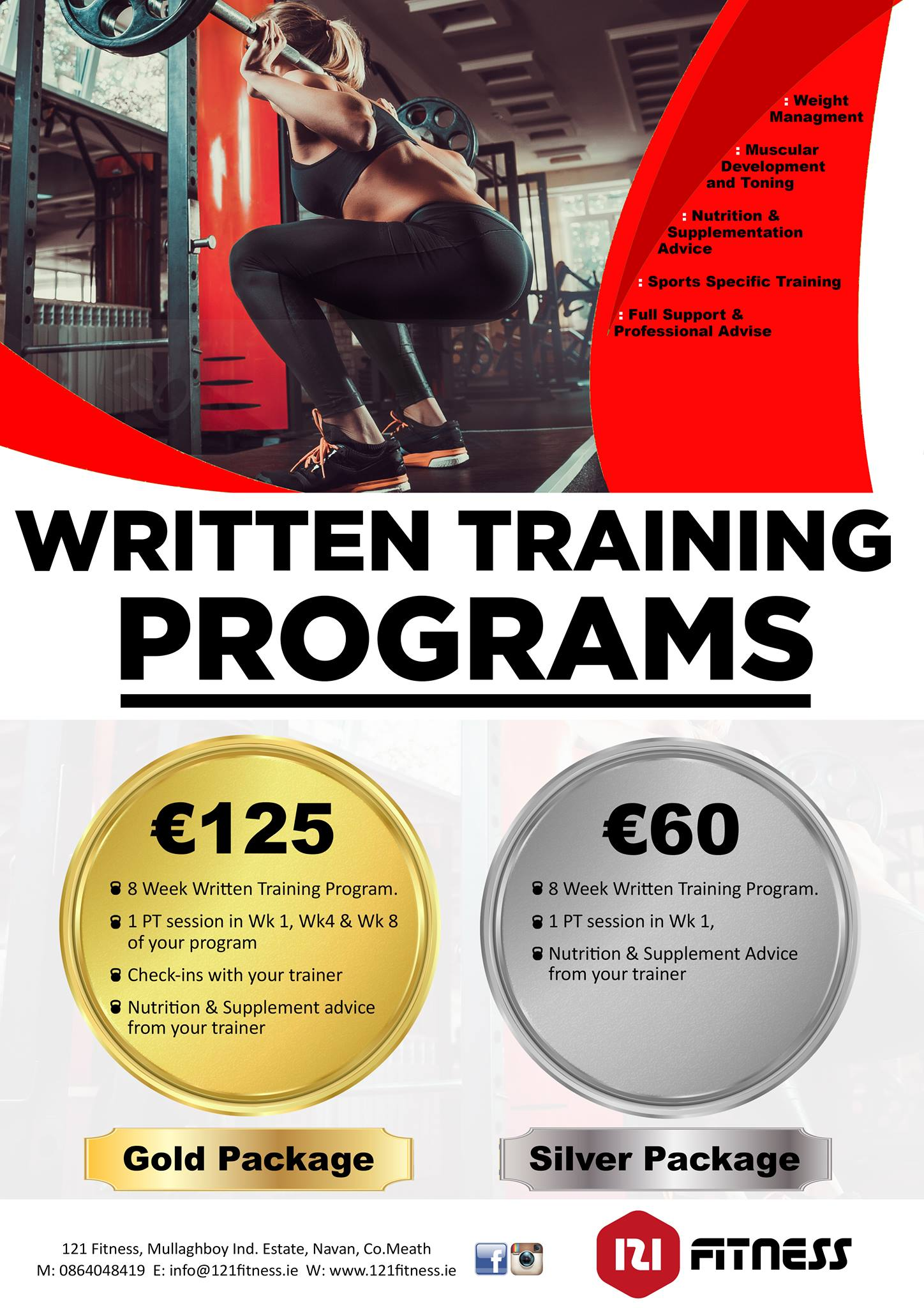 Personalised Written Training Programs